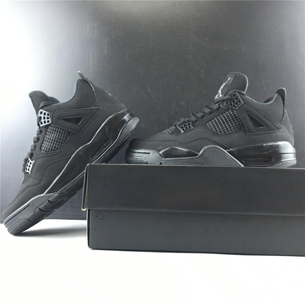 Yeni Erkekler 4S Basketbol 4 Kara Kedi Tasarımcı Lüks Eğitmenler Ayakkabı Spor Üst Kalite Sneakers ile Kutusu Ayakkabı