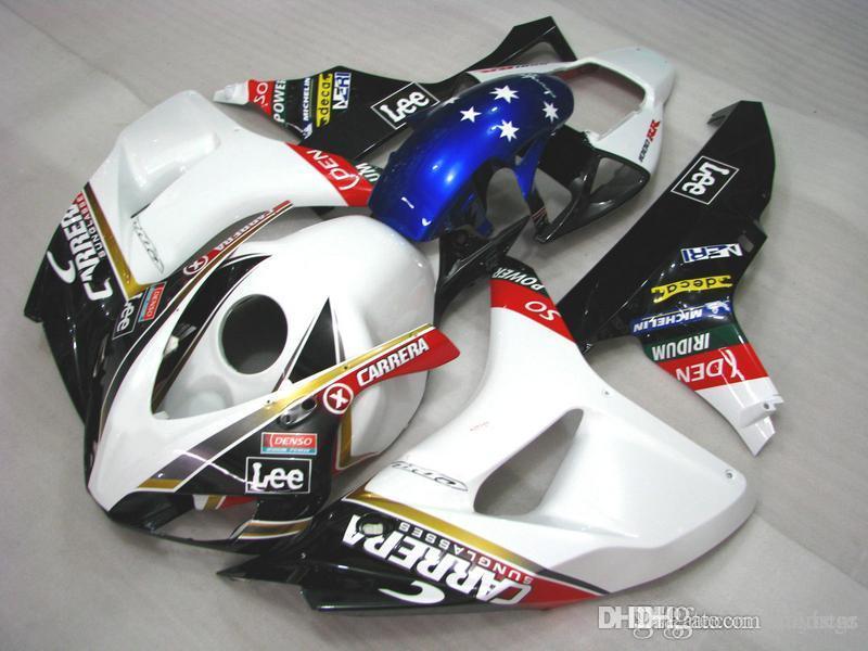 Honda quadiy Honda CBR1000RR 2006 2007 için kaportalar siyah mavi beyaz Enjeksiyon kalıp kaporta kiti CBR 1000 RR 06 07 SF24