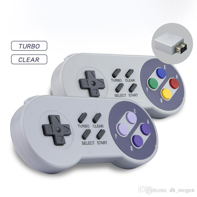 Console de jeu avec Gamepads sans fil de la manette de commande pour le contrôleur sans fil mini 2.4G Super NES mini-interface du contrôleur Wii