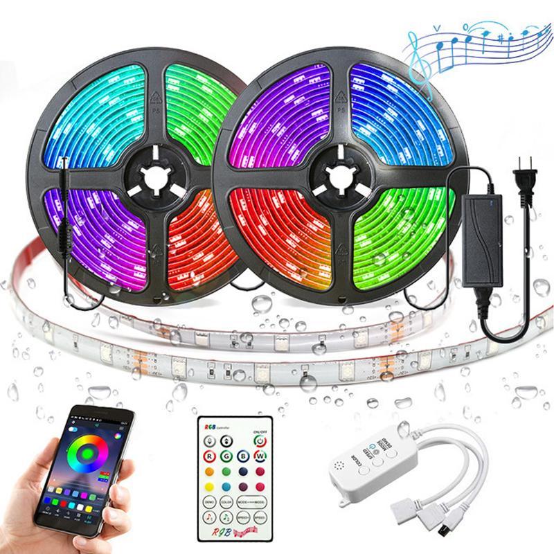 12V 5050 RGB 음악 음성 제어 스마트 APP 블루투스는 10m, 15m 세트 10062 빛