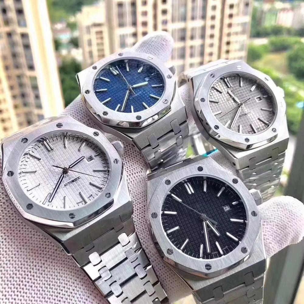 Luxury Watch Men Royal Oak Audemars Watches Automatic Mechanical Miyota Movement Wristwatch Stainless Steel Sapphire Crystal