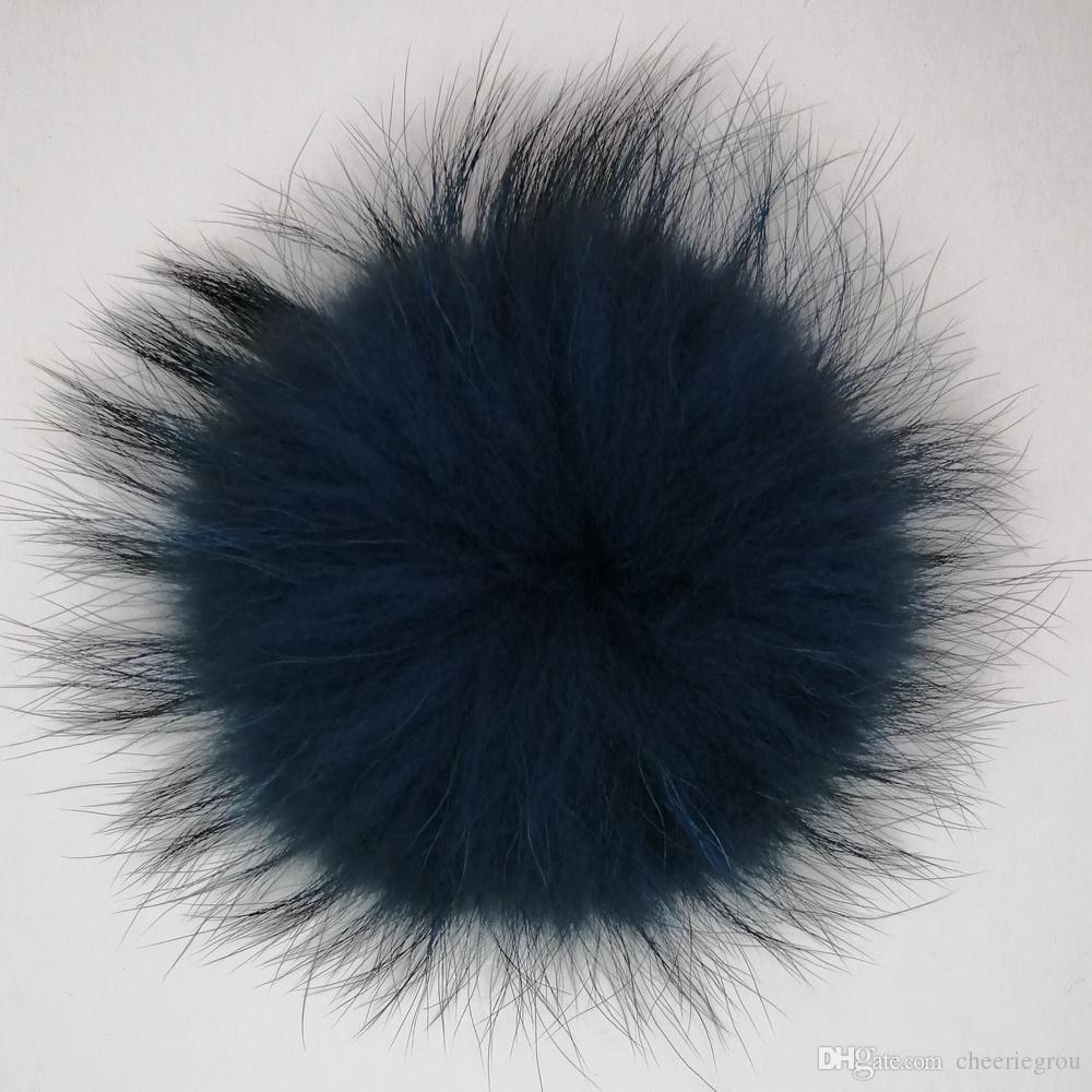 Высочайшее качество меховой мех енота меховой шар для аксессуаров съемная шапочка помпон мяч шляпа бесплатная доставка