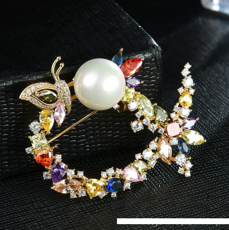 Moda sciarpa spilla grande cristallo di diamante accessori femminili spilla produttori