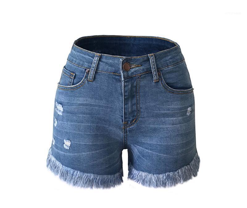 Señoras pone en cortocircuito pantalones cortos para mujer 2020 del nuevo del verano de la borla de los cortocircuitos forman los pantalones para mujer diseñador ocasional borla rallado