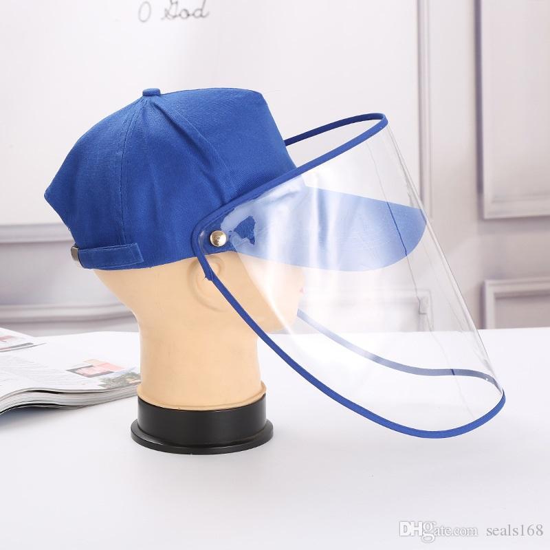 Koruyucu Maske Şapka Cap Karşıtı Koruyucu Beyzbol Şapka Göz Koruma Anti-sis Windproof Şapka Karşıtı tükürük Yüz Kapak Cap HH9-2979