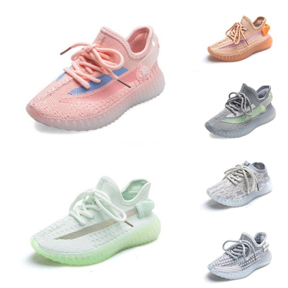 Infantile V2 vraie forme Kanye Hyperspace Ouest Clay Chaussures de course pour enfants Mode enfant en bas âge Formateurs grand petit garçon filles enfants tout-petits Sneaker # 838