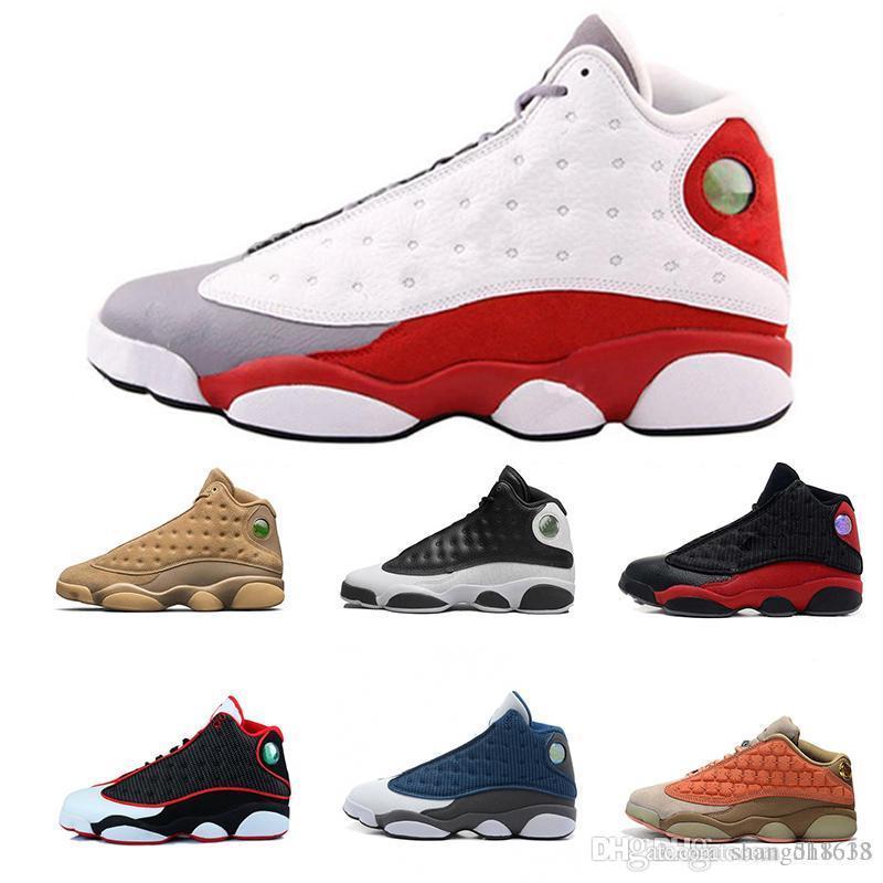 13 13С мужская баскетбольная обувь шапочке и мантии Фантом Чикаго ГС гипер Королевский Черный кот Кремни разводят коричневые Мужские спортивные кроссовки размер 40-47