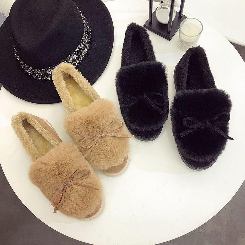 Winter new female snow boots non-slip student plus velvet warm cotton shoes flat women's boots zapatos de mujer U11-01