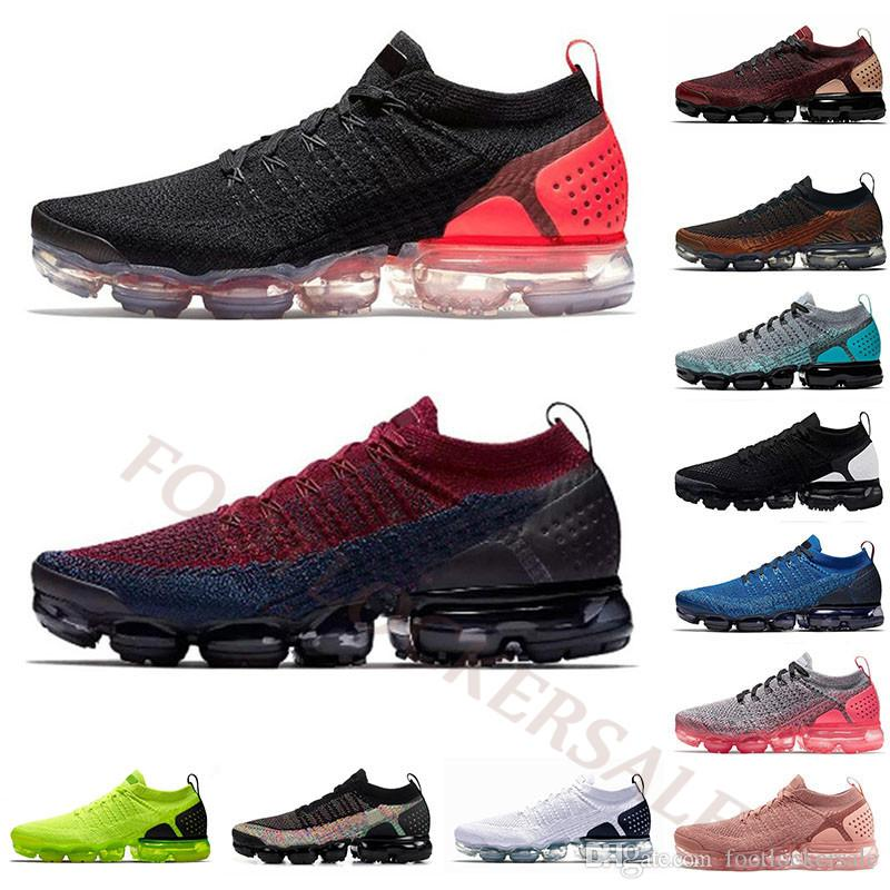 2019 Air 3.0 Fly 2.0 Mens Running Shoes Breathable Knit Hot Punch Moc Mens Trainers 2s 3s Volt Tiger Triple Black Cushions Women Sneakers