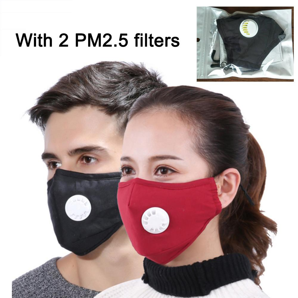 Anti Dust Face Msk with Valve Reusable Breathing Outdoor Facial Cover for Men and Women