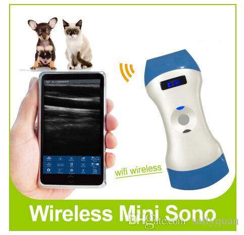 128 элементов беспроводной ветеринарный ультразвук выпуклый и линейный зонд двойная головка 2 в 1 с FDA, CE и ISO