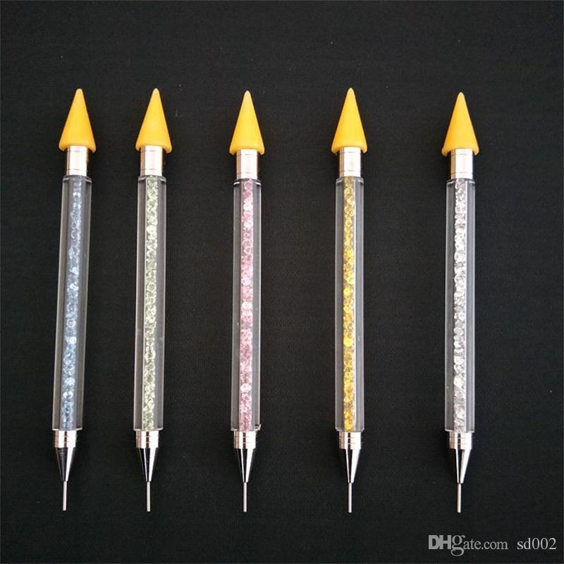 Двухголовый Ручка для Расставления Гвоздей Многофункциональный Rhinestone Crayons Diy Воск Карандаш С Ящиком Для Хранения Mulit Цвет 5 3hp E1