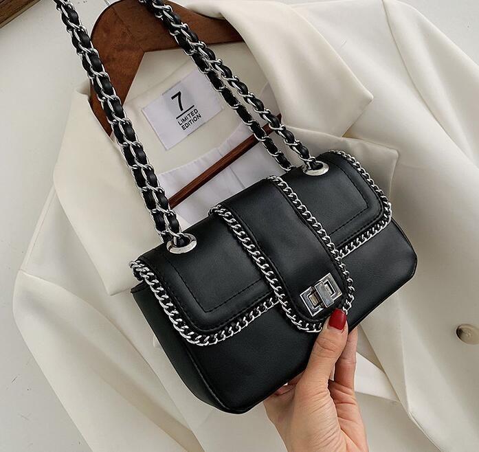 2020 borse a spalla dal design di lusso borse Portafogli da donna di alta qualità temperamento catena di Crossbody Bag Small Female Bag