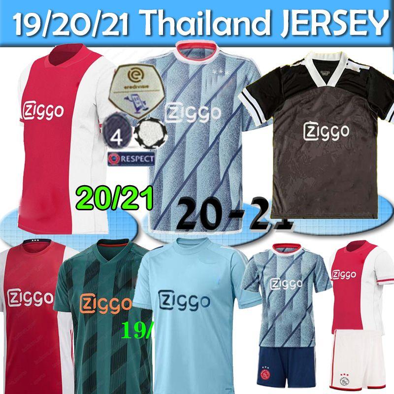 20 21 AJAX منزل كرة القدم الفانيلة رقم 21 DE JONG بعيدا قميص أياكس 19/20 # 10 تاديتش # 4 DE تجلى جانب رقم 22 ZIYECH الرجال الاطفال كرة القدم موحدة تايلند