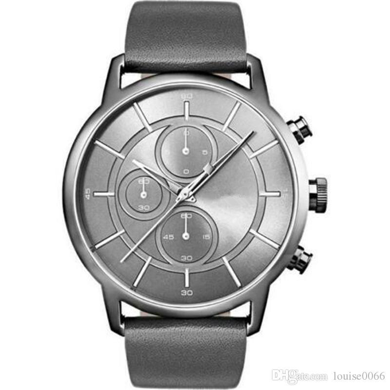 Top qualité Hommes quartz Designer en cuir Montres HB1513077 HB1513085 HB1513087 HB1513092 HB1513093 HB1513525 HB1513526 HB1513570 HB1513575