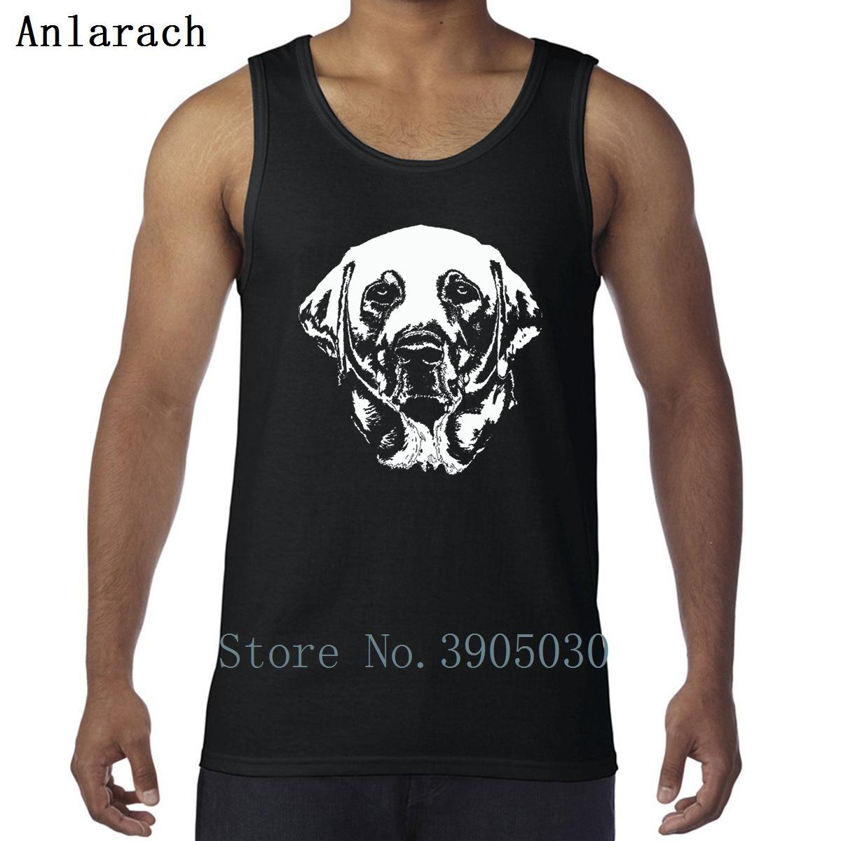 Labrador retriever chaleco moda estilo de verano ropa impresa hombre algodón camiseta simple novedad anlarach homme