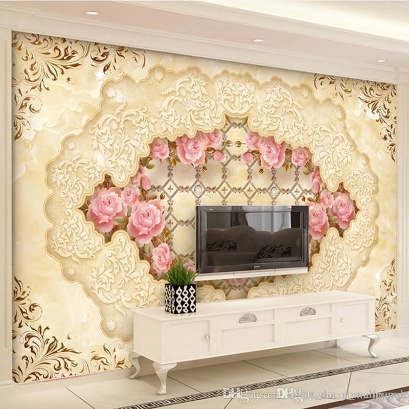 3D photo non-woven wallpaper mural Art Wall living room textile wallpaper Home improvement flower arch bridge porch paper wall