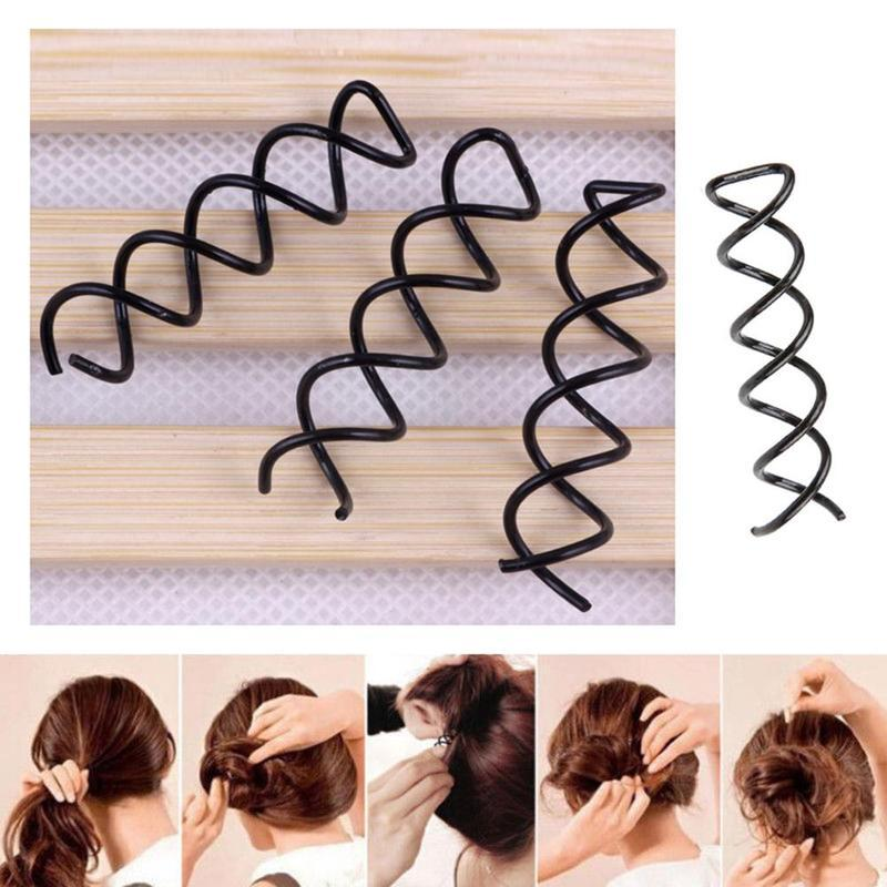 Magia Forma Espiral Fixos Grampos Para As Mulheres Menina Cabelo Styling Tools Buns Curling Headwear Grampos de Cabelo Acessórios Invisíveis