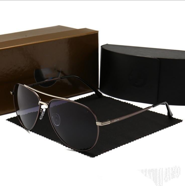 2020 gafas de sol de la nueva manera de marco de metal Hombres Mujeres Espejo polaroid prohibiciones lentes conductor Gafas de sol con gafas de sol actitud de Hip Hop