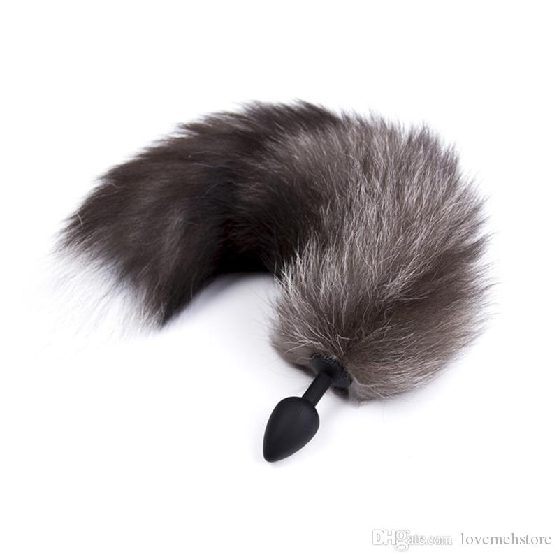 Diameter Size Small Authentic Tail Cosplay Anal Butt Toy Plug Insert Toy