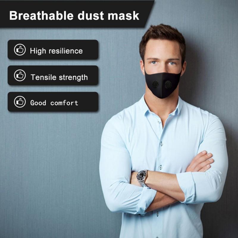 Воздух очищая маска для лица рот заглушить новый фильтр Washable анти пыли туман респиратор пылезащитный ТЧ 2,5 Маска