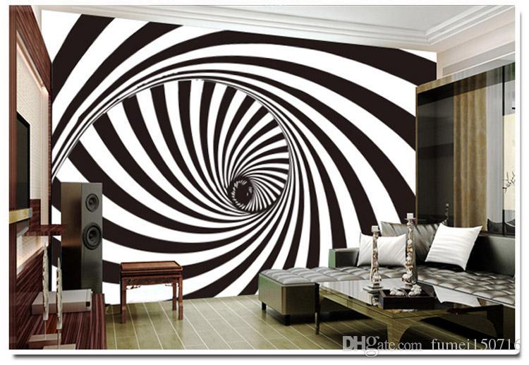 Large Fresco Abstract Personality Bar Ktv Casual Bar Tv Film Wall Background Wallpaper Wallpaper Black And White Whirlpool Home Decoration Wallpaper High Definition Wallpaper High Definition Widescreen From Fumei150716 18 8 Dhgate Com