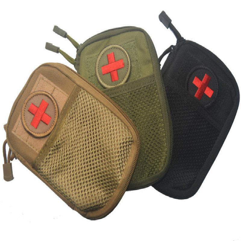 Viajes Sistema Molle EDC supervivencia táctica de nylon impermeable bolso de la cintura Military Medical Kit de primeros auxilios honda de la bolsa Durable