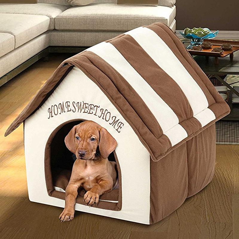 2020 Indoor Portable Dog House Soft Pet Bed Warm And ...