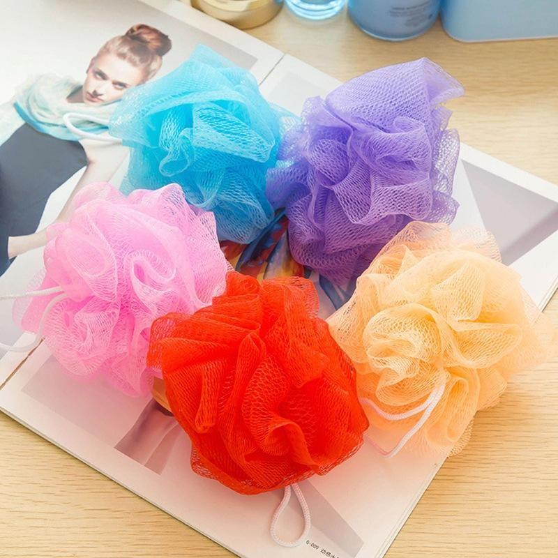 Maglie bagno sfera bagno spugna filtrante loofah nylon morbido maglia fluff per il corpo bagno di casa pulizia XD22292