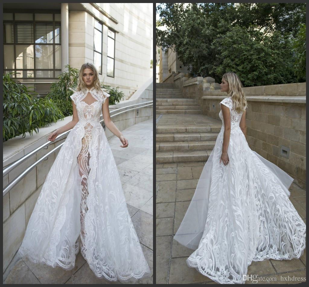2020 Новейшая белая линия свадебные платья Специальные вырезанные кружевные свадебные платья подвесного поезда плюс размер сад свадебное платье