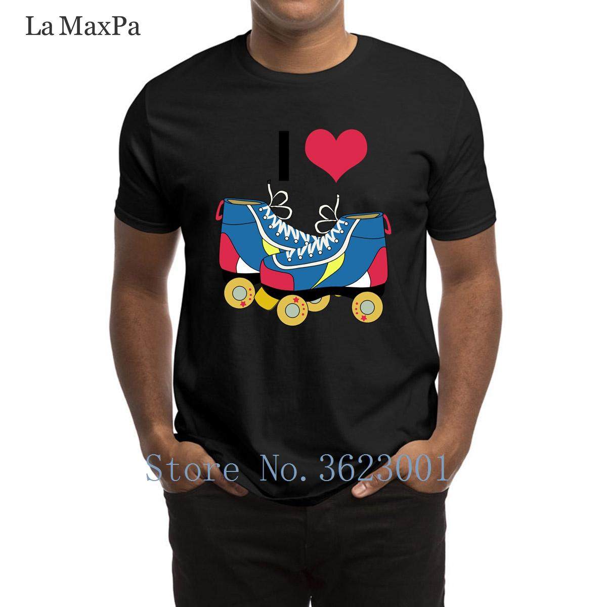 Entwirft Weinlese-T-Shirt I Heart Roller Skates T-Shirt Mann Sonderbare Male Männer-T-Shirt Mode Große Größen-T-Shirt Mann Pop-Spitze T
