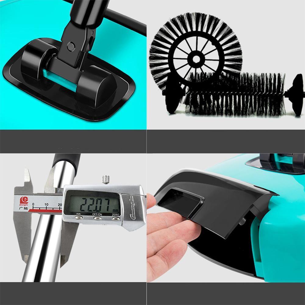 36X20X6cm Hand Push Type Sweeping Machine Handhold Magic Broom Dustpan Mop Hand Push Sweeper Mop Household Cleaning Tool