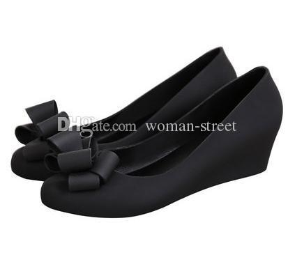Женская мода клин сандалии сладкий лук галстук желе обувь леди случайные Сад обувь Мягкие удобные сандалии девушки пляж обувь