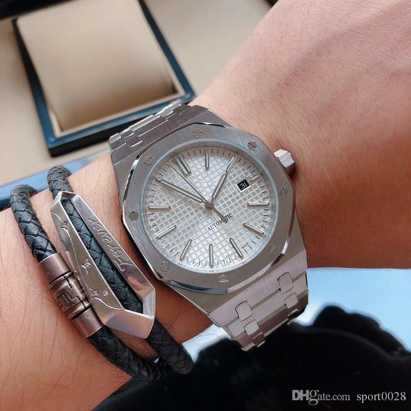 высокого класса люкс мужские часы Часы из нержавеющей стали 316L тонкой стальной чехол 44mmX12mm Р21 механизм минеральное усиленное стекло Монтре де люкс