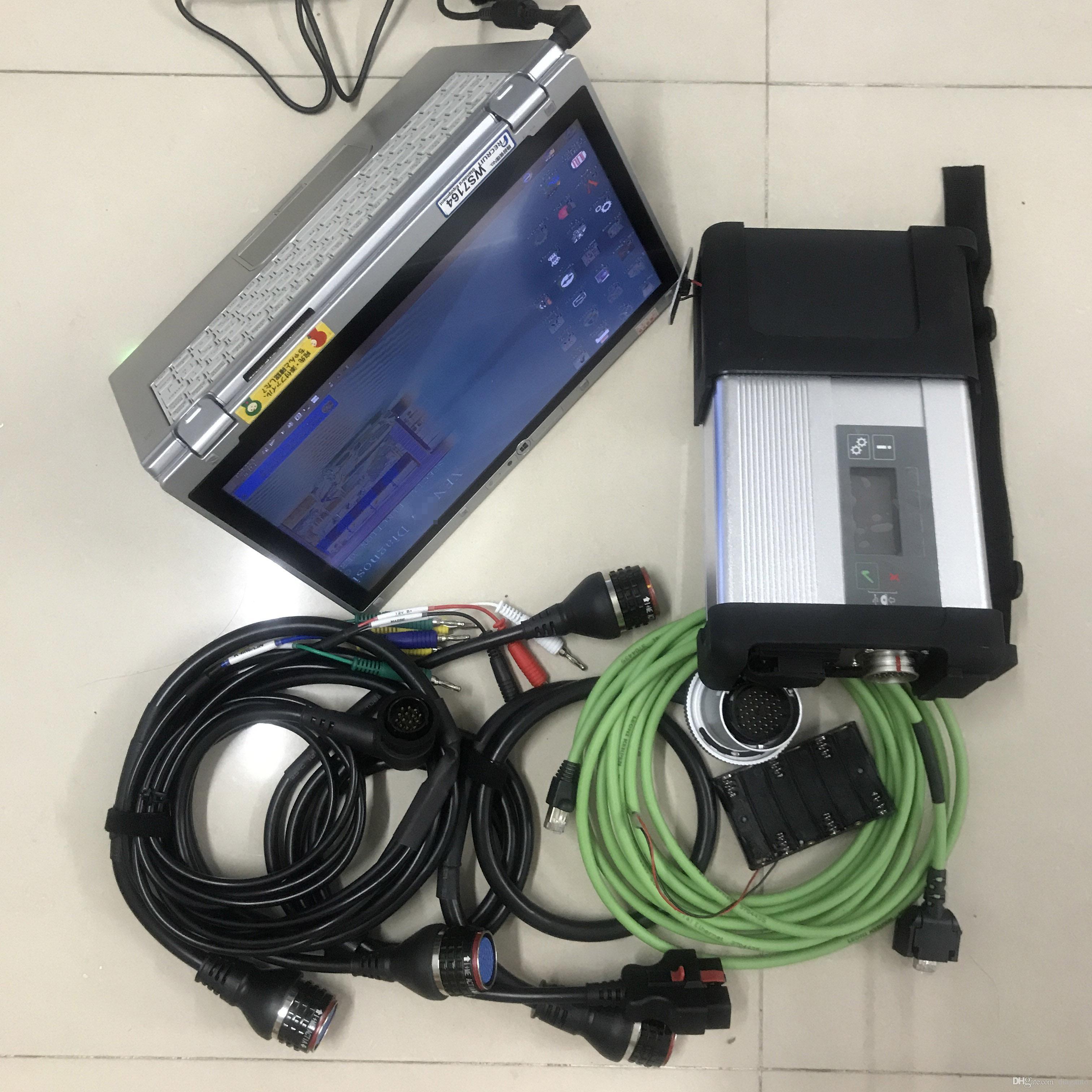 ميغابايت ميغابايت ستار C5 Diagnose مع الكمبيوتر المحمول CF-AX2 I5 8G 480G SSD Soft-Ware 2021.03 Windows 7 جاهزة للاستخدام