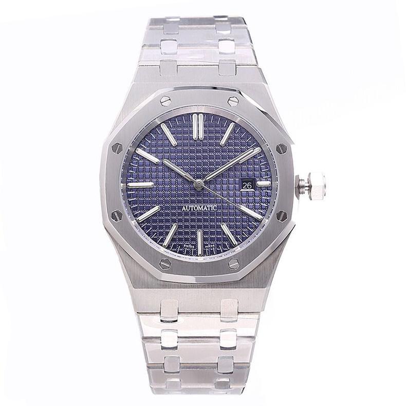 gli uomini guardano U1 41 millimetri in acciaio inox pieno dalla cinghia orologio d'oro automatica luminosa superiore orologio di qualità zaffiro orologio di lusso impermeabile 5ATM