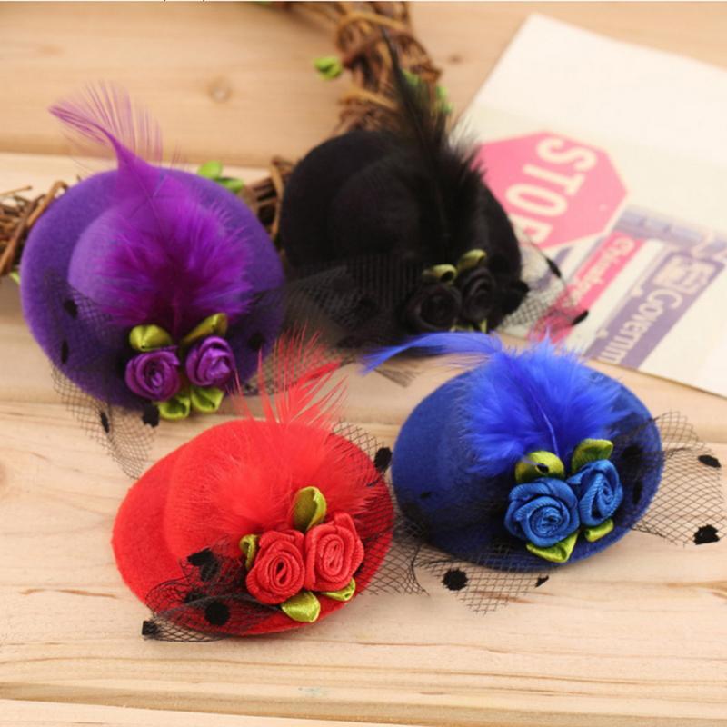 Hot NEW Halloween-netten Kind-Kind-Mädchen-Mini Hut-Art-Kopf-Haar-Klipp-Partei-Dekor Zubehör mit hohen Qualität