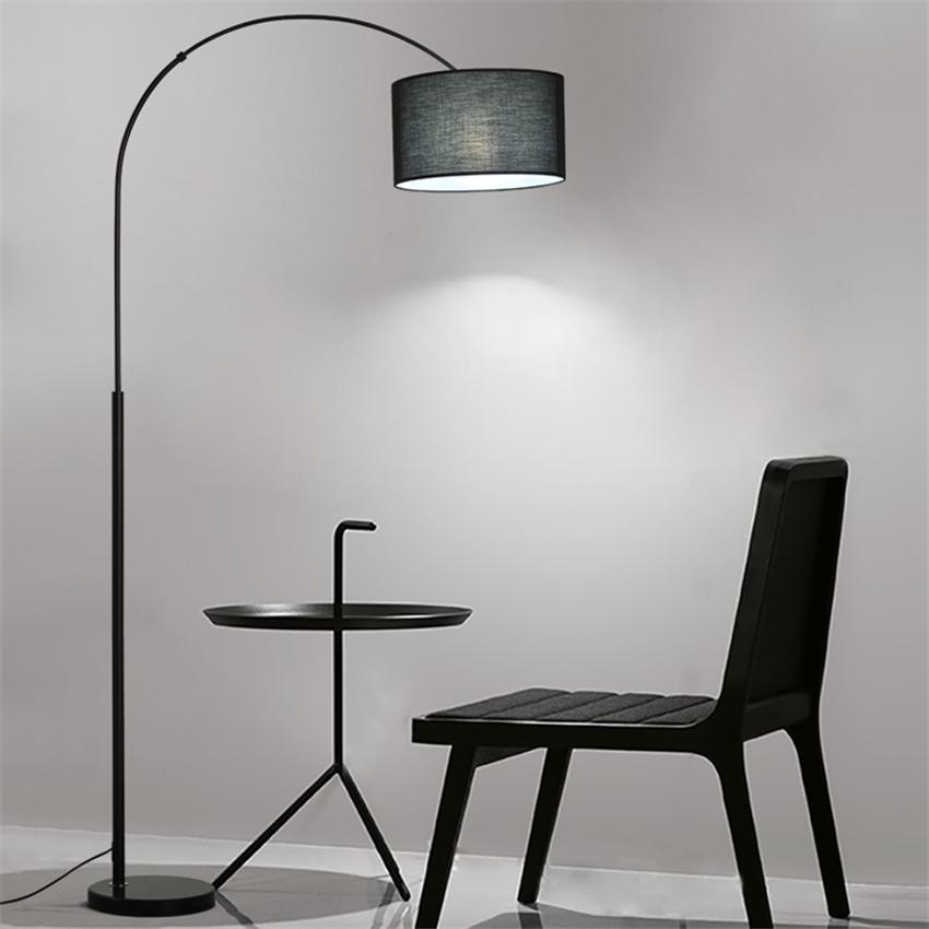 거실 침실 침대 옆 블랙 화이트 주도 층에 디자이너 현대 천 플로어 램프는 램프 주방기구 조명기구 조명