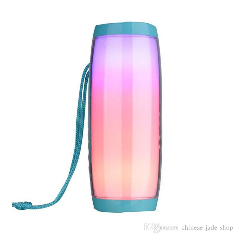 TG157 TG-157 Led Lamp Speaker Colorful Wireless Bluetooth 1200mah Double Speakers V4.2 Support FM USB TF 10pcs/lot