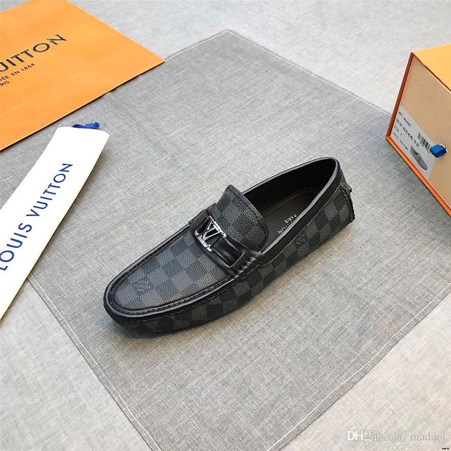 20SS Erkekler Lüks Ayakkabı Deri loafer'lar Moda El Yapımı Makosenler Yumuşak Deri Erkek Tekne Ayakkabı Günlük Ayakkabılar loafer'lar Bükük Yetişkin