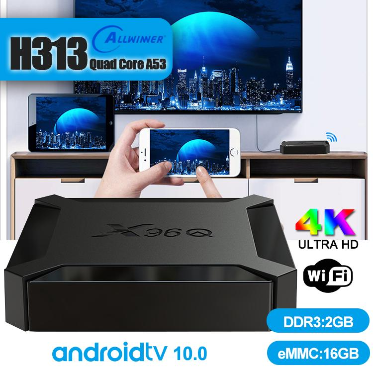 X96Q TV Box Android 10.0 Allwinner H313 Quad Core Support Wifi Smart TV Android TV Box