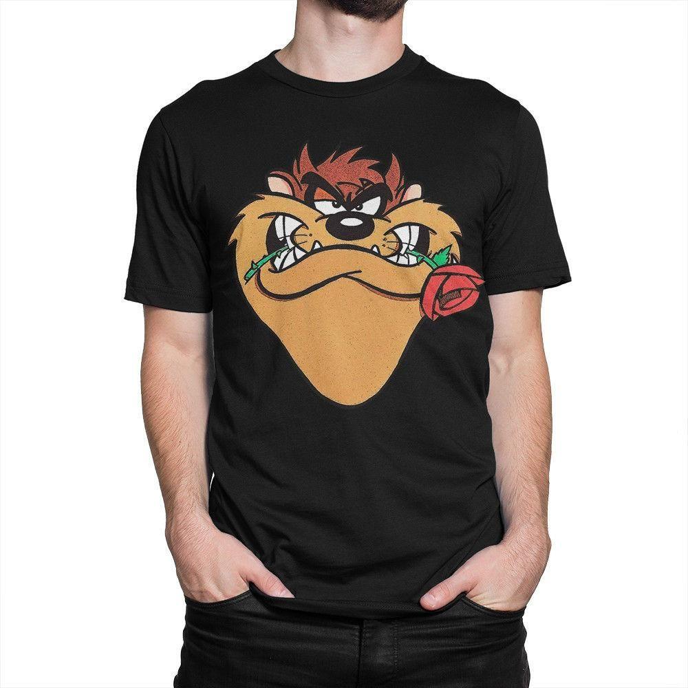 Таз с Roset футболки Тасманский Loony Devil Cartoon Тройник для мужчин Top