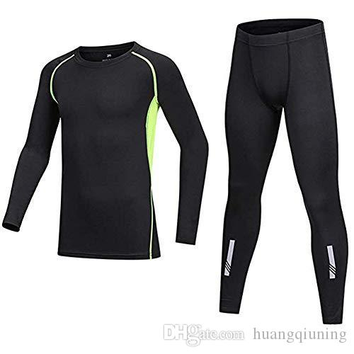 Vestiti dei ragazzi manica lunga Athletic Base compressione strato Biancheria intima Camicia Collant Set