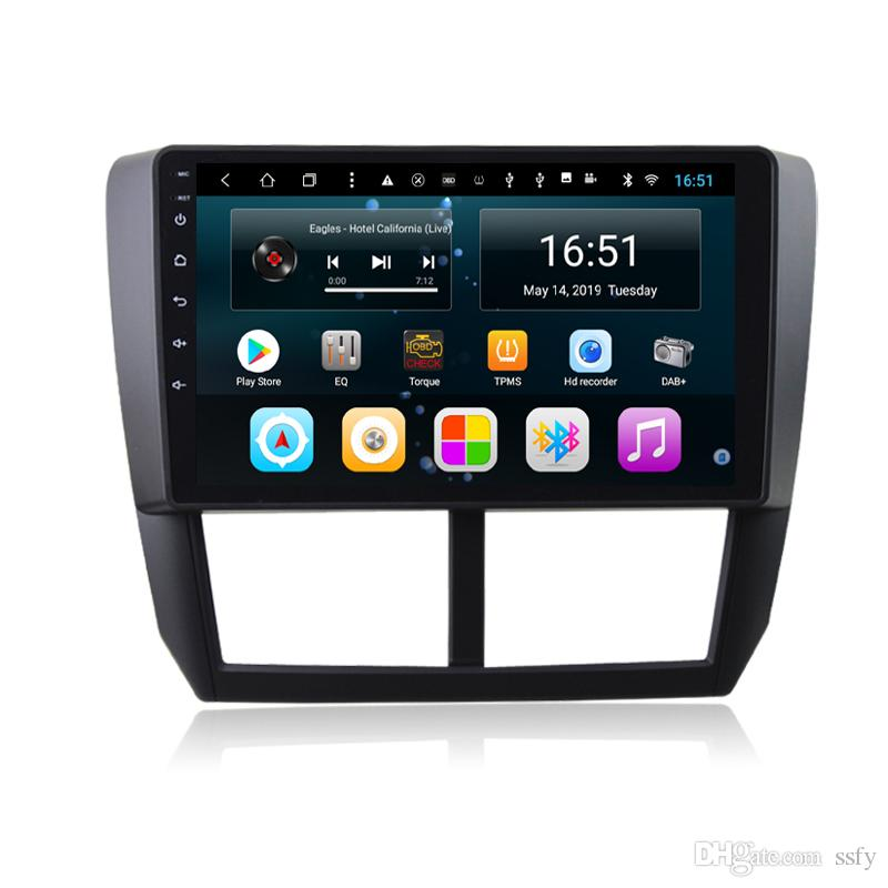 Android car player with radio AM FM precise GPS navigation Resolution HD 1024 * 600 front camera for Subaru Forester 2008-2012 9inch