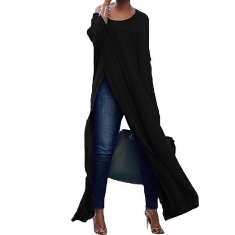 Outono mulheres Sexy blusas manga comprida Off The Cotton Shoulder Dividir Sólidos Tops Blusa feminina blusas Casual camisa longa