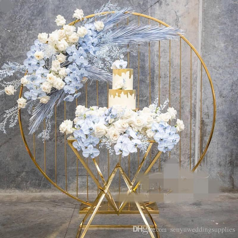 New style Hot selling gold metal flower arrangement stands for wedding table decoration wedding hall stage decoration senyu0458