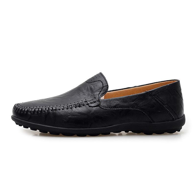 Homens sapatos de couro de Verão de calçados casuais homens Mocassin Homme Preto Brown Deslizamento-em sapatos mocassins driver