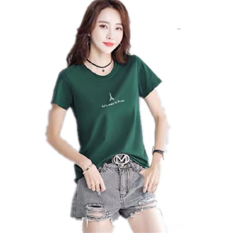 A maniche corte T- ins femminili 2020 stampati colletto tondo vestiti superiori delle donne alla moda pullover a maniche corte base T-shirt Mutande Top u