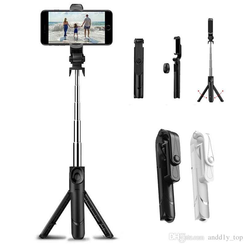 Treppied Selfie Stick Bluetooth 3.0 Remote Telecomando allungabile Mini Monopod Palogena pieghevole per iPhone Samsung Smartphone universale