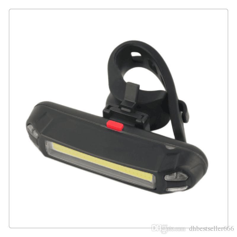 Brilhante Bicicleta Cauda Luz USB Recarregável COB LED Luzes de Segurança com 6 Modos de Bicicleta DIODO EMISSOR de Luz Da Frente Traseira Para Qualquer Motas Scooter capacete